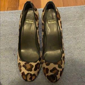 Stuart Weitzman Leopard hair heels